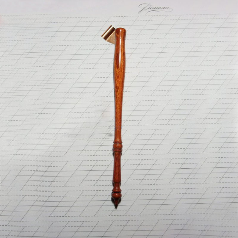 Handmade Rosewood Century Oblique Calligraphy Dip Pen Holder Copperplate Script Dip Pen