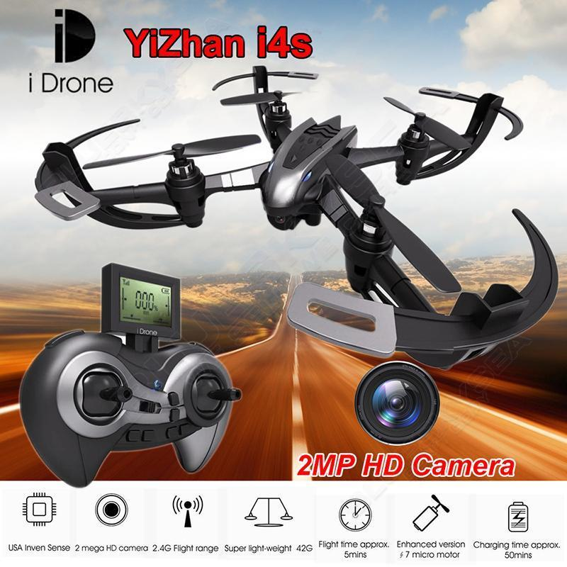Free shipping iDrone i4s 2 4G 4CH 6 axis Gyro Quadcopter Drone RTF Flight 2MP HD
