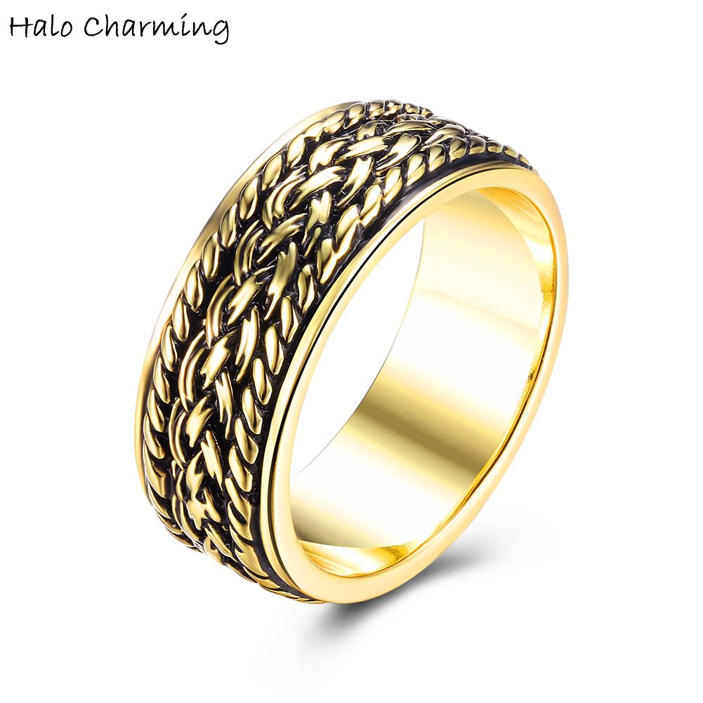 1 Piece Gold Color Intersect Pattern Rings Hot Sale Party Gift Decoration Women Fashion Jewelry