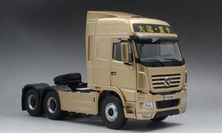 Exquisite Alloy Model 1:24 Dayun N9  Truck Tractor Trailer Vehicles DieCast Toy Model for Collection Decoration