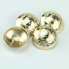 Free shipping gold buttons 23mm/25mm metal button wholesale fashion metal, garment accessories