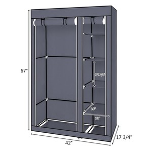 Image 2 - DIY Собранный нетканый шкаф для одежды многослойный пылезащитный шкаф для хранения одежды шкаф для спальни одеяло разное Органайзер стойка