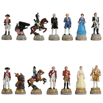 The New Chess Set Child Game American War of independence Resin Doll Chess International Chess Resin Figure Cartoon Chess Set фото