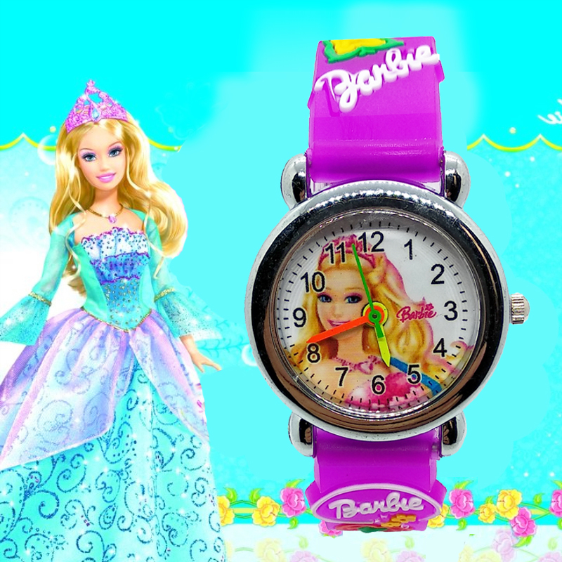<font><b>3D</b></font> <font><b>Cartoon</b></font> <font><b>Sexy</b></font> Princess doll Baby Children Watch for Kid Girls Boys Students Clock waterproof kids watches Quartz Wristwatches image