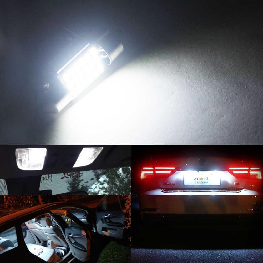 Dxz 2 Buah 31 Mm 36 Mm 39 Mm 41 Mm C5W C10W 18 27 30 33 SMD 3014 LED memperhiasi Lampu CANBUS Ada Kesalahan Auto Interior Lampu Dome