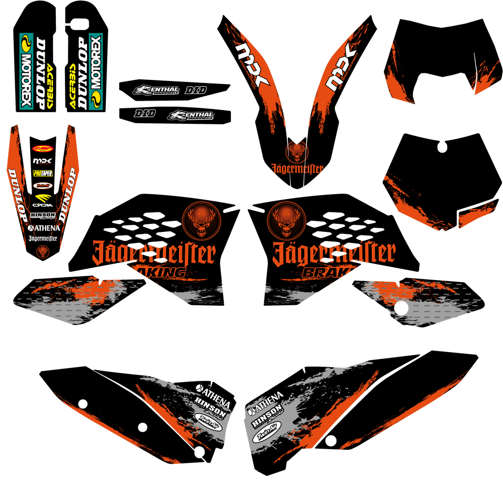 Acerbis Lower Fork Cover Set 16 KTM Orange for KTM 105 SX 2006-2011