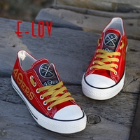 NFL San Francisco 49ers Canvas Shoes USA All Star Fans Print Shoes Painted Logo Men Women