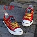 Nfl san francisco 49ers zapatos de lona ee.uu. all star fans de impresión zapatos Logo Pintado Hombres Niños Grandes Zapatos Ocasionales Del Tamaño Envío de La Gota