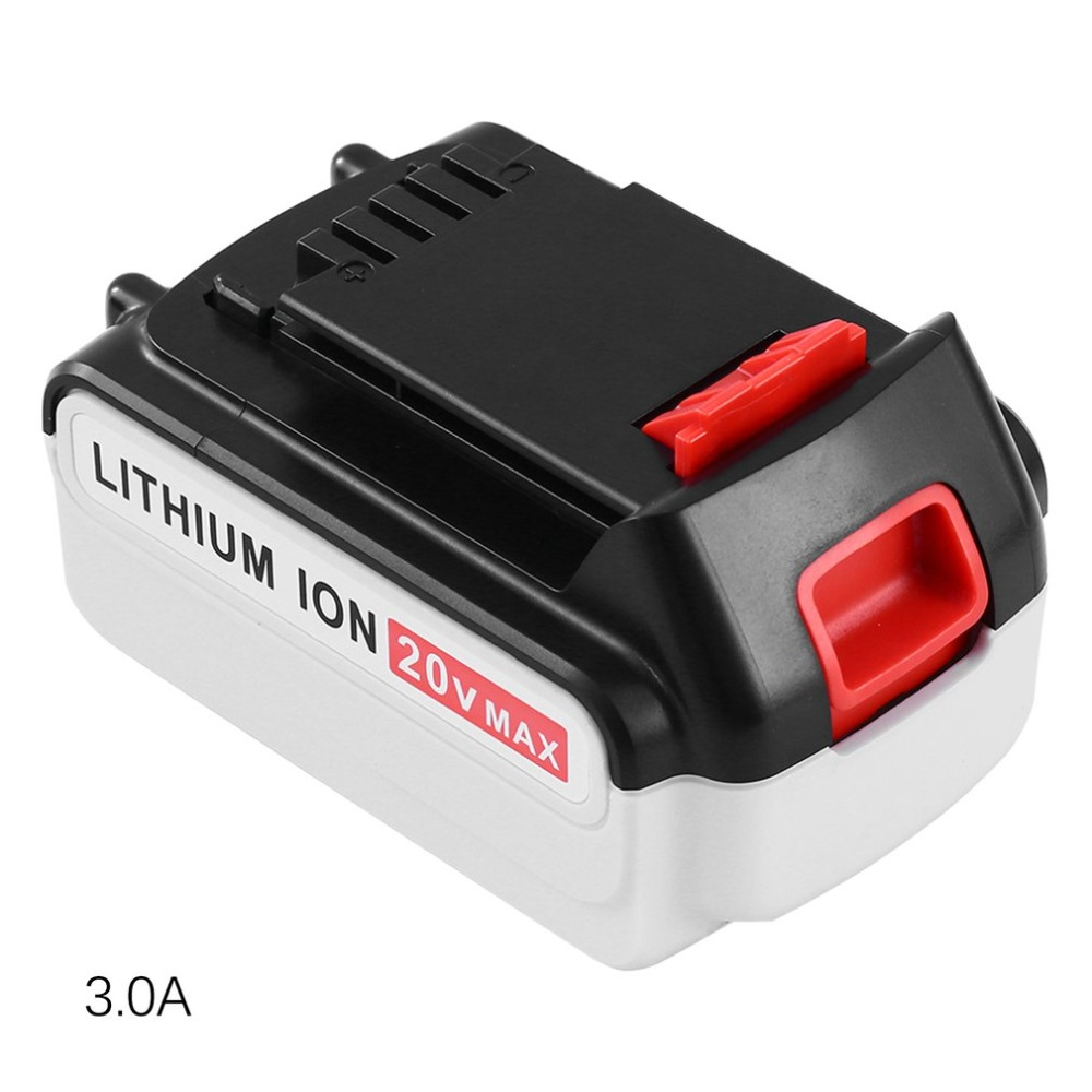 20V Lithium Ion Battery For Black & Decker Durable Li-Ion Battery Professional Replacement Battery Power Tool 18v 6000mah rechargeable battery built in sony 18650 vtc6 li ion batteries replacement power tool battery for makita bl1860