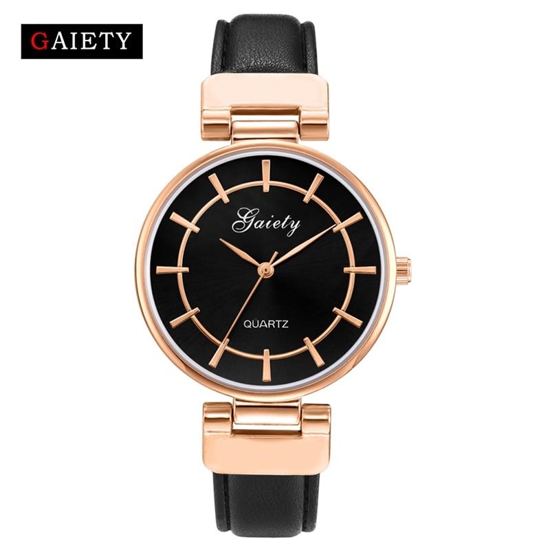 2017 New Arrive GAIETY Brand Rose Gold Women Fashion Luxury Watch Leather Quartz Wristwatch Sport Women Watches Ladies Clock