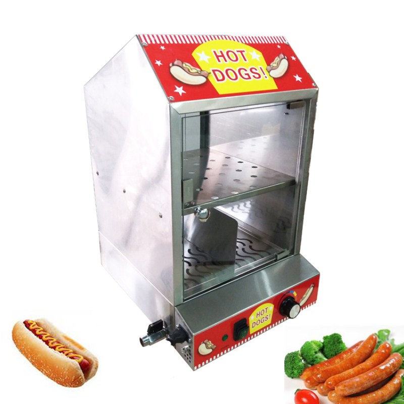 Electric Stainless Steel Warming Counter Mini Commercial Hot Display Showcase Food Steamer On Sale ce appvide commercial 220v countertop electric hot dog steamer warmer display showcase