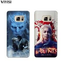 For Samsung Galaxy s8 Case S9 Plus S6 S7 Edge S10 Note 8 9 Fundas Daenerys Dragon Jon Snow Tyrion Shell Game Thrones Coque Etui