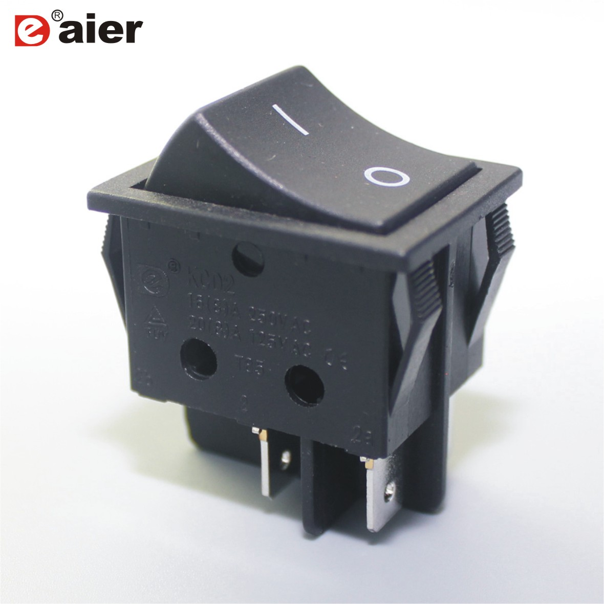 hight resolution of 2 position 16a rocker switches 250v t125 ac 125v 20 amps dpst on off 4 pins