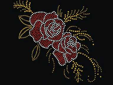 2pc lot Red Rose patch strass iron transfer on design hot fix rhinestone motif rhinestone iron on transfers designs strass iron in Rhinestones from Home Garden