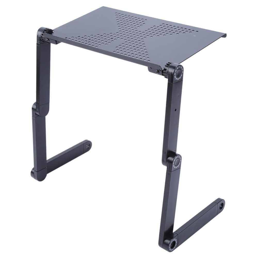 Портативный складной регулируемый высокий стол для ноутбука компьютерный стол подставка лоток для ноутбука ПК складной стол с мышью с вентилятором