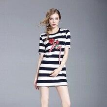 Новый Для женщин вязаное платье Slim Fit Платья для женщин с розовым цветком Вышивка элегантная женская одежда ssd144