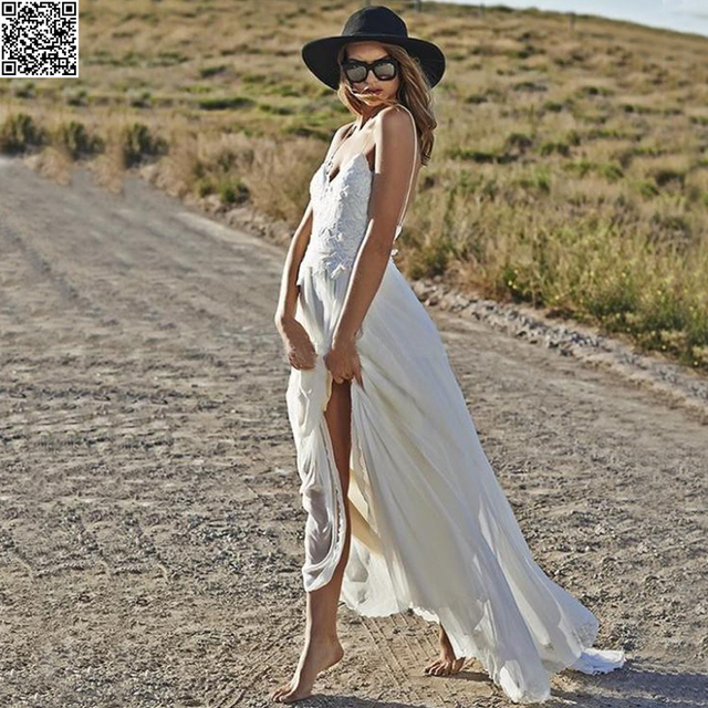 Simplemente Backless de Playa Vestido de Novia Sexy Correas ...
