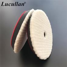 Lucullan 150mm-180mm Japanese-Style Medium Wool Polishing Sponge Sheepskin Short Hair Auto Detailing Grid Polishing Pads