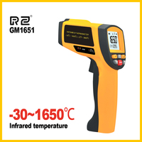 Digital Handheld Gun Non Contact Infrared Thermometer Laser Pyrometer Professional Industrial Temperature Gun GM1651 BENETECH