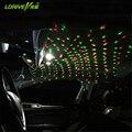 1 Conjunto de Plug USB Car Interior Luz Ambiente Mini DJ Clube discoteca Projetor Carro De Controle de Som Música Rhythm Luz Da Estrela Do Laser DJ lâmpada