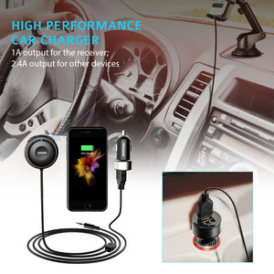 Image 5 - Mpow MBR2 Bluetooth Car Kit Hands Free Calling Streambot Audio Receiver Wireless Stereo Receiver With Car Charger Noise Isolator