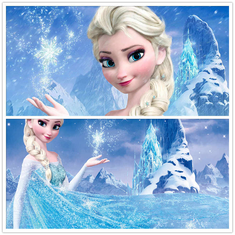 Best selling 5D Diy diamond painting cartoon Frozen cross stitch plastic canvas kits diamond embroidery  Elsa free shipping
