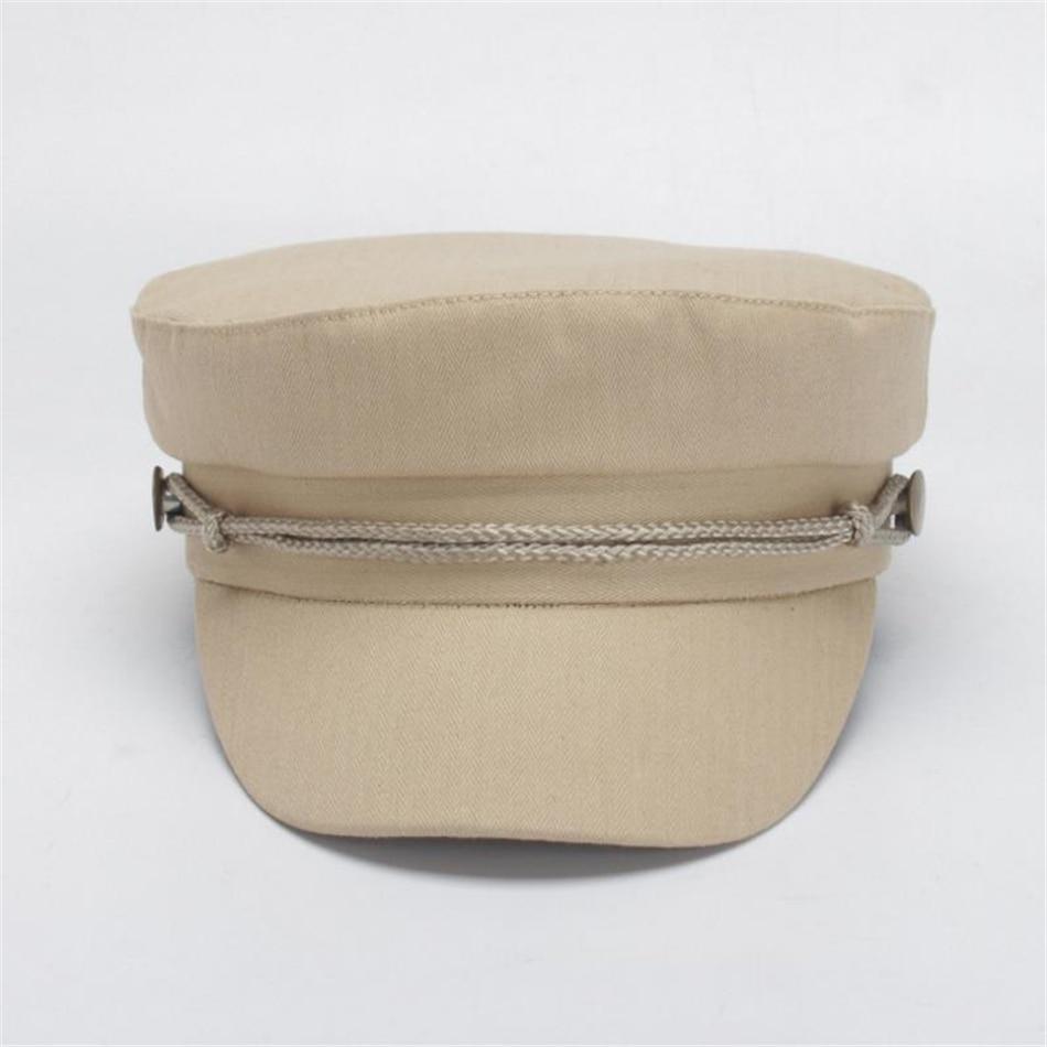 BUTTERMERE Brand Women Military Hat Burgundy Cotton Female Newsboy Spring Summer Baker Boy Ladies Sailor Flat