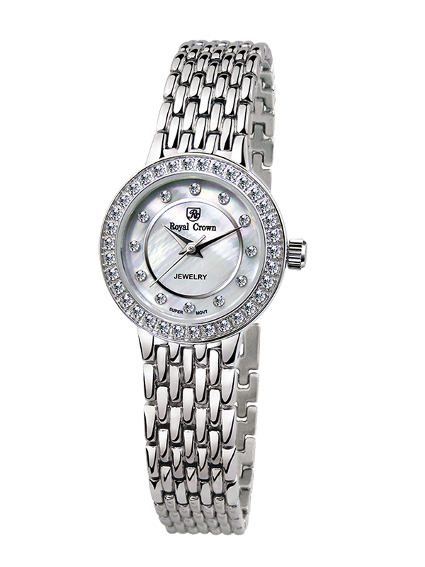 Royal Crown Jewelry Watch 3650LS Italy brand Diamond Japan MIYOTA platinum Fine Fashion Dress Bracelet Band Luxury Rhinestones royal crown jewelry watch 1514b italy brand diamond japan miyota platinum bracelet korean version female watch fashion