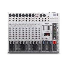 G-MARK GMX1200 профессиональный звуковой микшер консоли музыка Студия DJ 12 каналов 8 моно 4 стерео 7 бренда эквалайзер 16 эффект USB play