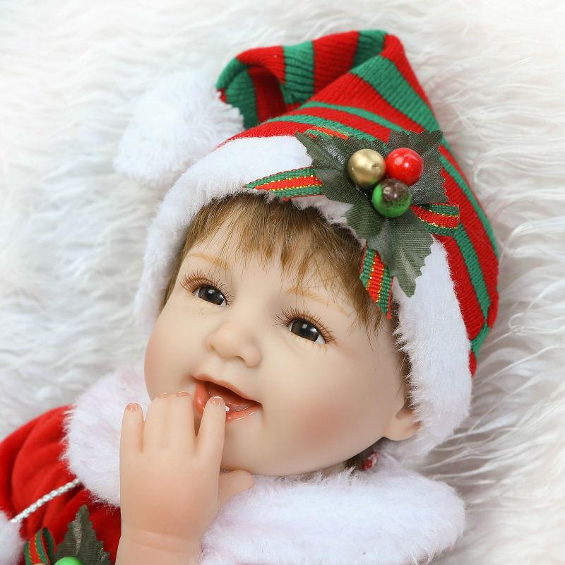 NPK realistica Reborn Bel Sorriso Premie Baby Doll Realistica Bambino Che Gioca Giocattoli Per i bambini popolari Di Compleanno Regalo Di Natale-in Bambole da Giocattoli e hobby su  Gruppo 3