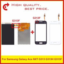 цена на High Quality 4.0 For Samsung Galaxy DUOS Ace NXT G313 G313H G313F LCD Display With Touch Screen Digitizer Sensor Panel