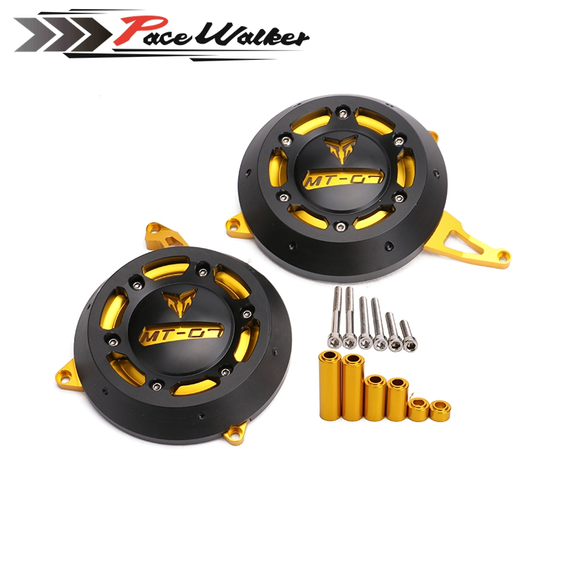 FREE SHIPPING Motorcycle Engine Stator Case Cover Engine Protective Cover Protector For YAMAHA MT-07 MT07 FZ-07 FZ07 4 Color alconstar motorcycle mt07 engine stator case cover engine protective cover protector case for yamaha mt 07 mt07 fz07 2014 2016