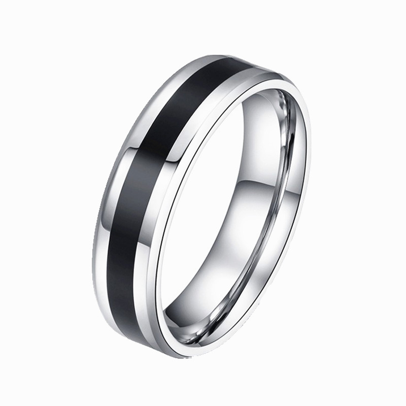 Vintage White Gold Color stainless steel Ring Mens Jewelry for Women lord Wedding Band male ring for lovers CRD44 ...