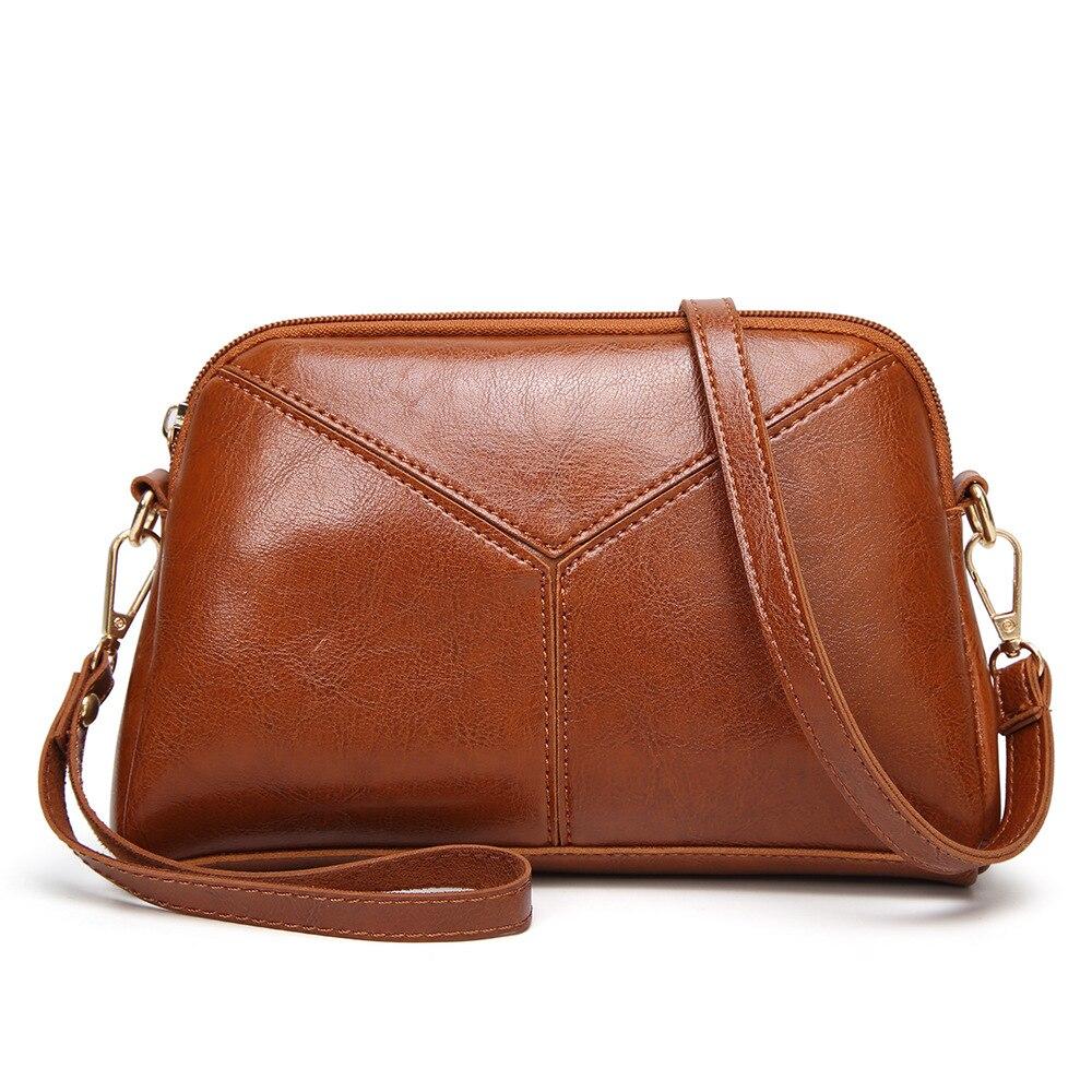 2813446f373 US $16.05 34% OFF Brown PU Leather Patchwork Hobos Designer Shoulder Bag  Strap Black Ladies Side Handbags for Women Crossbody Shoulder Handbag-in ...