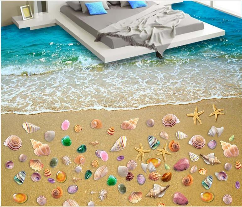 wallpapers for living room 3d floor tiles custom 3d floor wallpaper Beach 3d floor murals self adhesive wallpaper