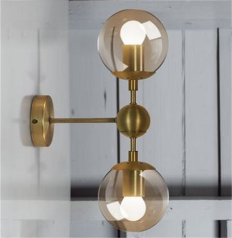 Free shipping brass polished finished metal glass shade 120mm wall lamp fixture room shop bedroom beside light home decoration free shipping brass finished e27 industrial edison wall lamp antique copper vintage beside lighting ac90 250v for bedroom