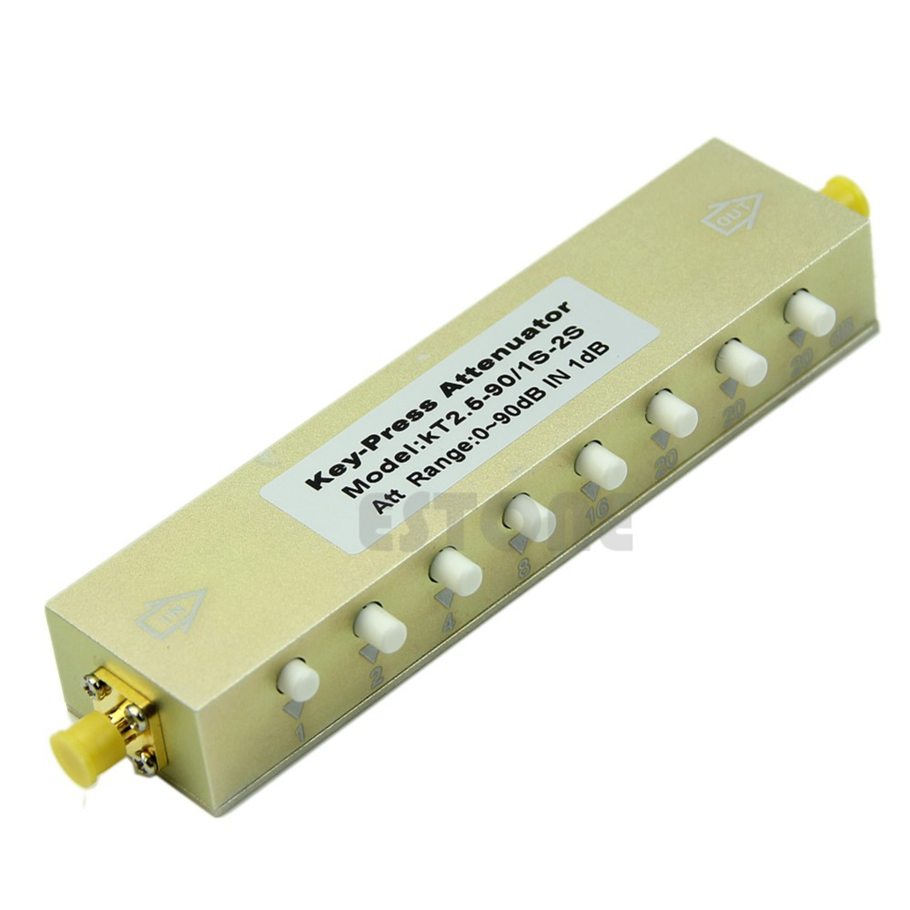 Adjustable Press Variable Attenuator 5W DC 2.5Ghz 0 90dB SMA 8 key step 1db-in AC/DC Adapters from Consumer Electronics    1