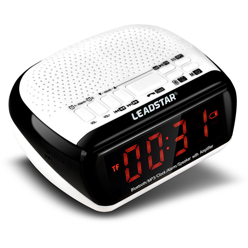LEADSTAR Wireless Bluetooth LED Display Digital Speaker MP3 Player Alarm Clock FM Radio Speaker High Quality цена