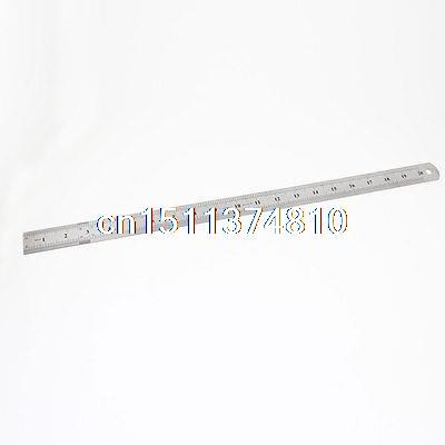 Double Edge Measuring Tool Metric 50cm 20 Stainless Steel Straight Ruler 2pcs dual side stainless steel measuring straight ruler 300mm 12 inch