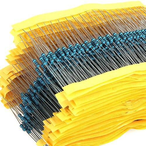 Сук 600 шт./компл. 1/4 Вт Сопротивление 1% 30 видов каждое значение металлического пленочного резистора кабельные наконечники в наборе для резис...