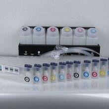 6+ 12 чернила Системы для Roland/Mimaki/Mutoh с бутылкой картридж соединители краскоподающей трубки