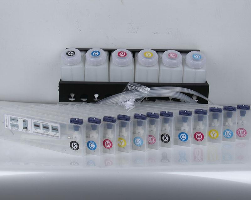 6+12 Bulk Ink System for Roland/Mimaki/Mutoh with Bottle Cartridge Ink Tube Connectors color lm korea sublimation ink inktec sublinova bottle ink for roland mimaki mutoh epson