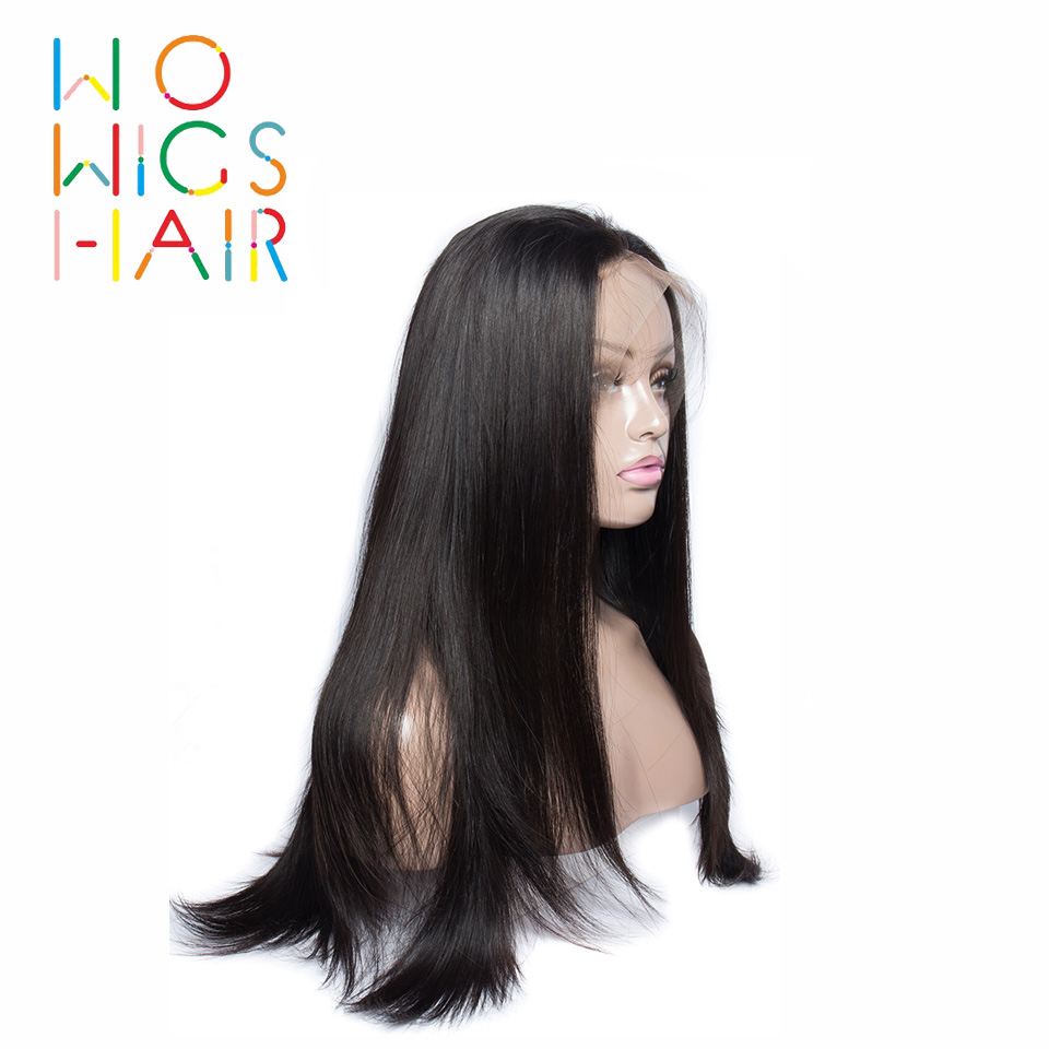 WoWigs Hair 360 Wigs Straight Remy Hair 100% Human Hair Wigs Free Shipping