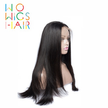 WoWigs Hair 360 Wigs Straight Remy 100% Human Free Shipping
