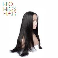 WoWigs Hair 360 Wigs Straight Remy Hair 100% Human Hair Wigs Free Shipping