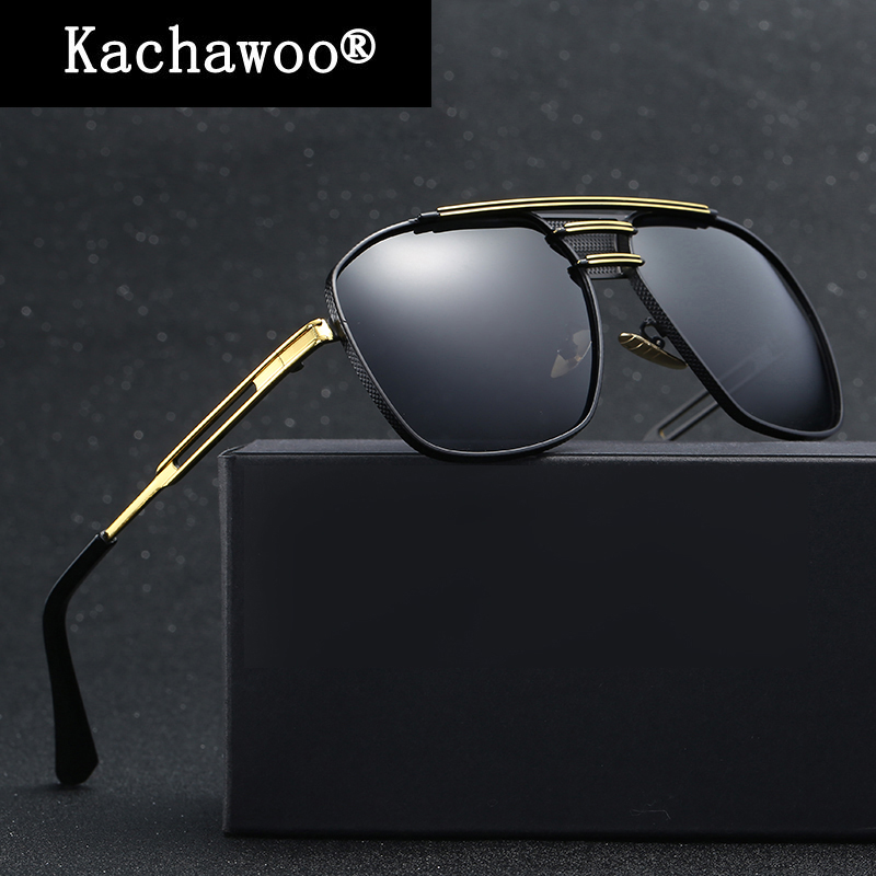 Metal Frame Polarized Sunglasses Square Fishing Glasses for Cycling Mens Driving Brand Design Sun Shades with Box UV400
