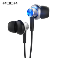 Rock Zircon Y5 Stereo Earphones For Phone Smartphone In Ear Wire Control With Mic 3 5mm