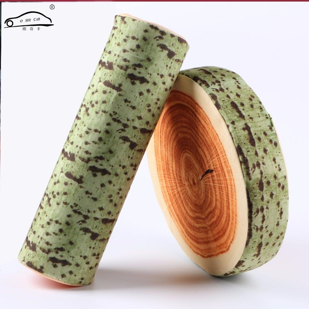 tronco de madera del asiento
