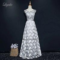 Liyuke Leaf Shape Pattern A Line Evening Dress Regular Sleeve Custom Made Floor Length Formal Dress