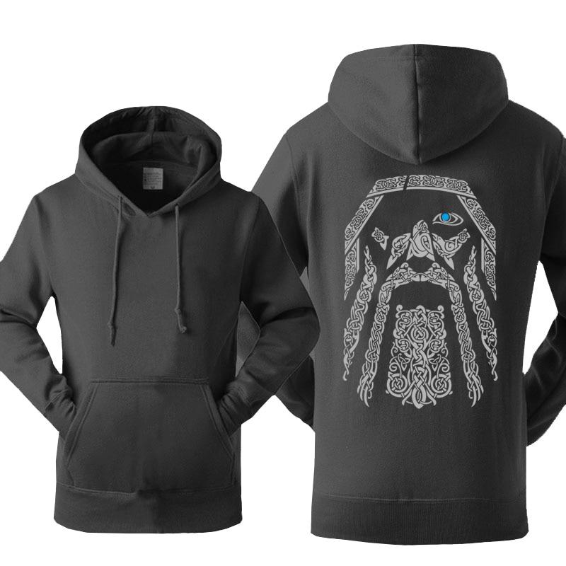 Odin Vikings Hoodies Men Spring Autumn Harajuku Sweatshirts Hoodie Hip Hop Hoodie Men Hipster Brand Streetwear Vintage Hoody